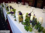 Top Table: slate, candles & flowers