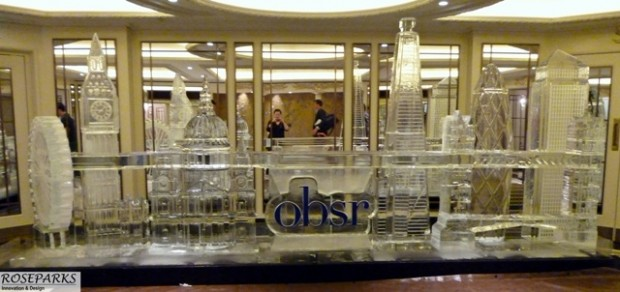 Ice Sculpture of 'London Attractions' at The Dorchester