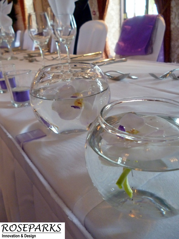 Mini Goldfish Bowls - Top Table