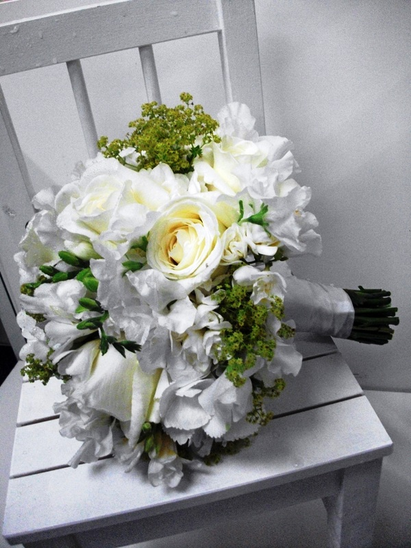 Stephanie's bridal hand tie
