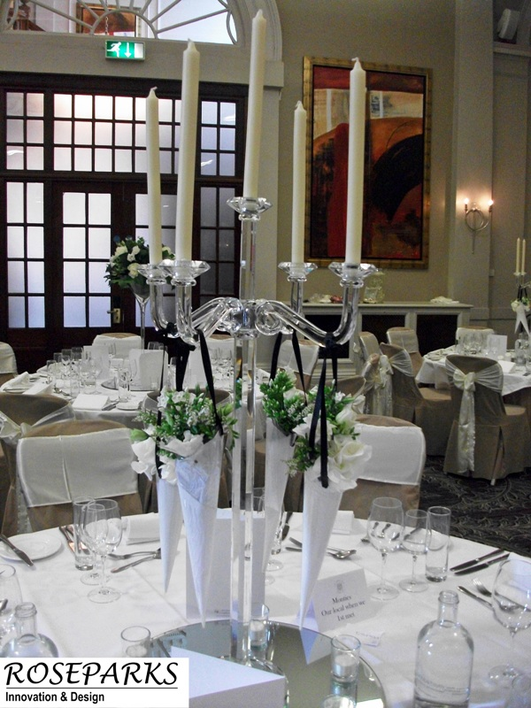Glass Candlestands - King's Hall
