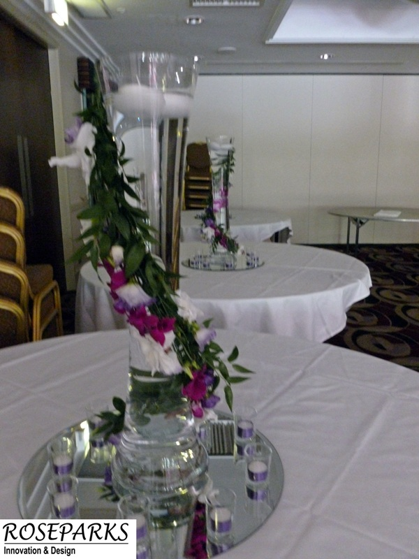 Table Centres - Edinburgh Capital Hotel