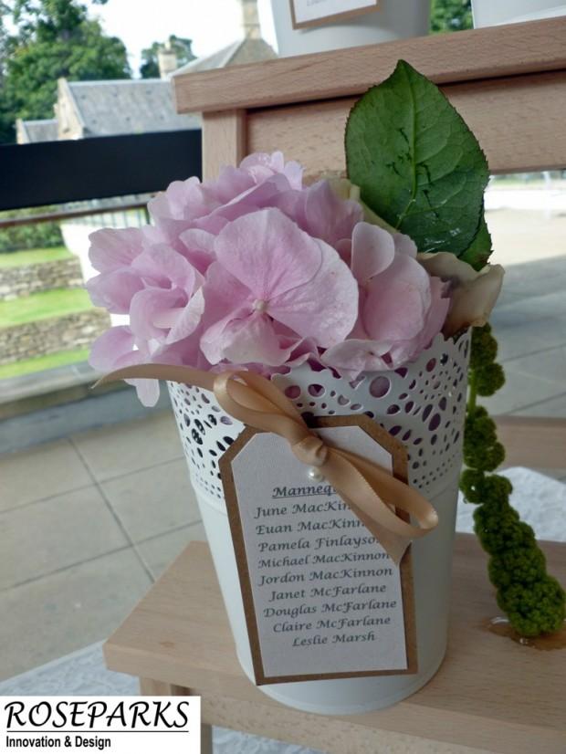 Table & Guest Plan - Flower Pot