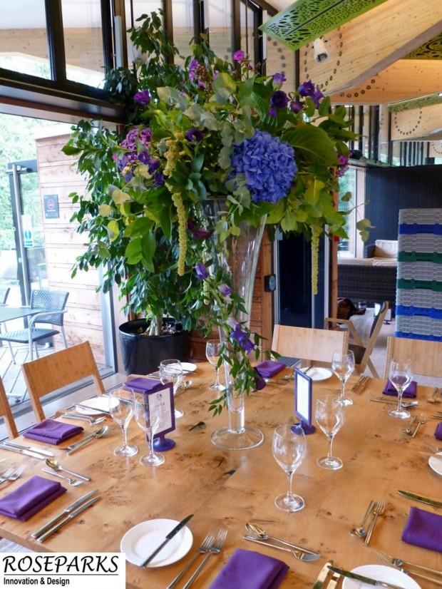 Tall Vase arrangement - Gateway Restaurant