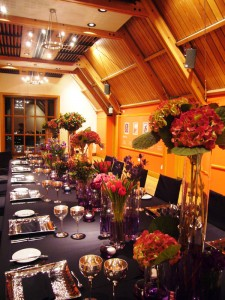 Long table arrangements
